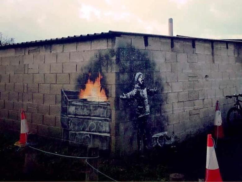 Mural Banksy di Kota Inggris Paling Tercemar Tak Jadi Dipindahkan Foto: Banksy/ Instagram