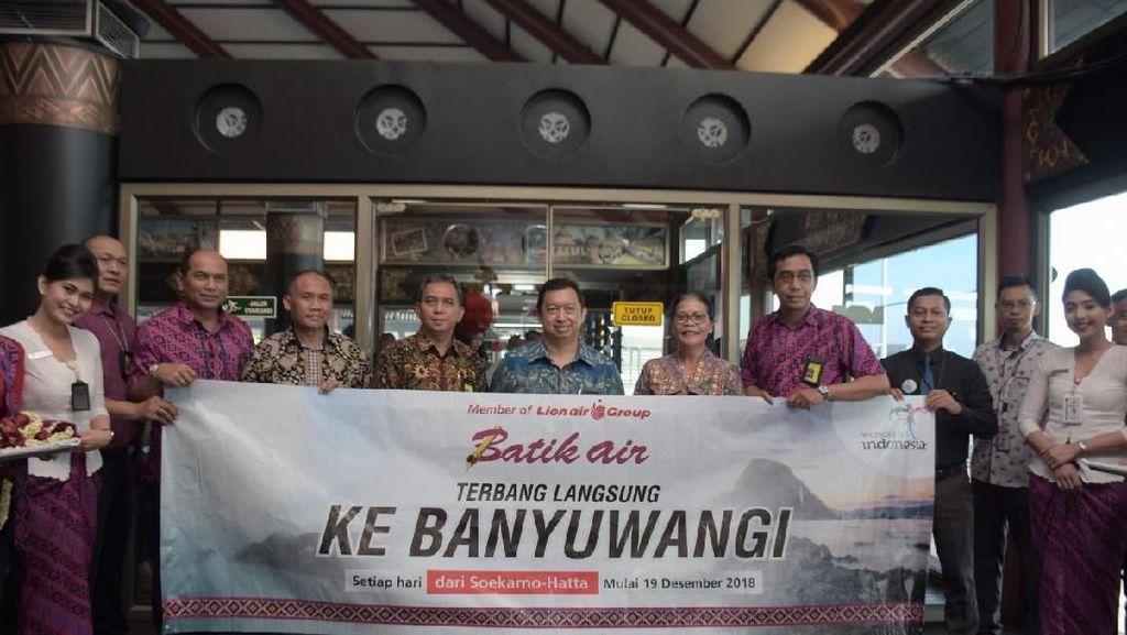 Perdana Terbang ke Banyuwangi, Batik Air Langsung Full Seat