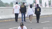 Selebrasi Unik Pramono Anung di Tol Trans Jawa