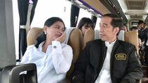 Sejoli Jokowi-Iriana Jajal Tol Trans Jawa dengan Damri