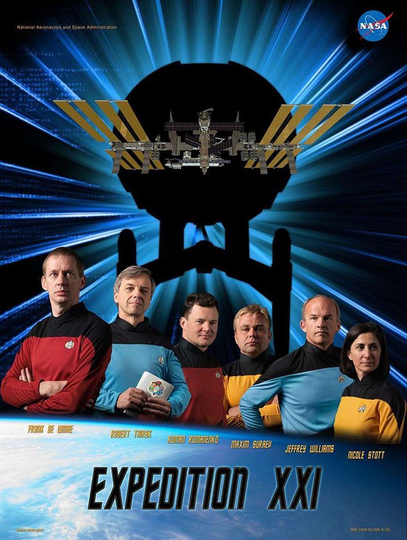 Mirip poster film Star Trek. Foto: NASA
