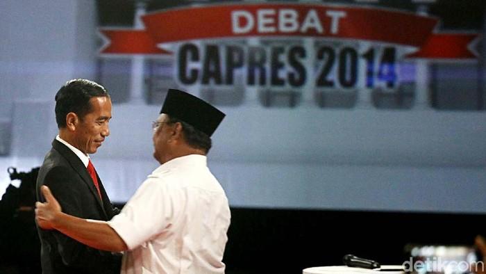 Jokowi dan Prabowo di Debat Pilpres 2019. (Grandyos Zafna/detikcom)