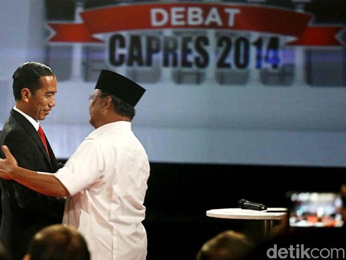 Capres Jokowi dan Prabowo Subianto. (Foto: Grandyos Zafna/detikcom)