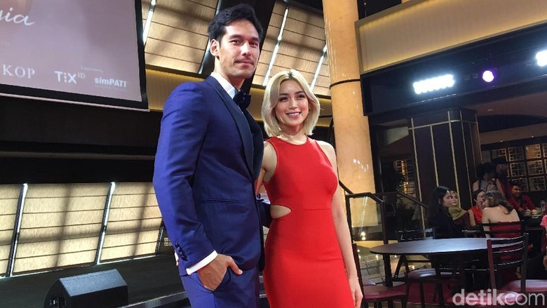 Foto: Jessica Iskandar dan Richard Kyle (Arum/detikHOT)