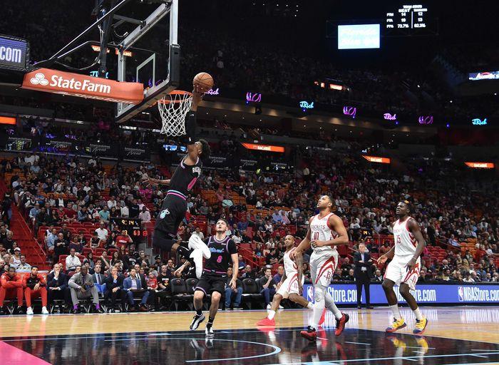 Houston Rockets tumbang di kandang Miami Heat dalam lanjutan NBA. (Foto: Steve Mitchell-USA TODAY Sports)