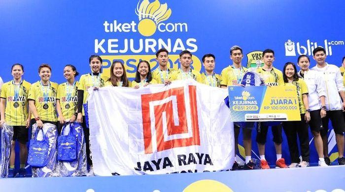 PB Jaya Raya juara Kejurnas Bulutangkis 2018 (Foto: dok. Humas PBSI)
