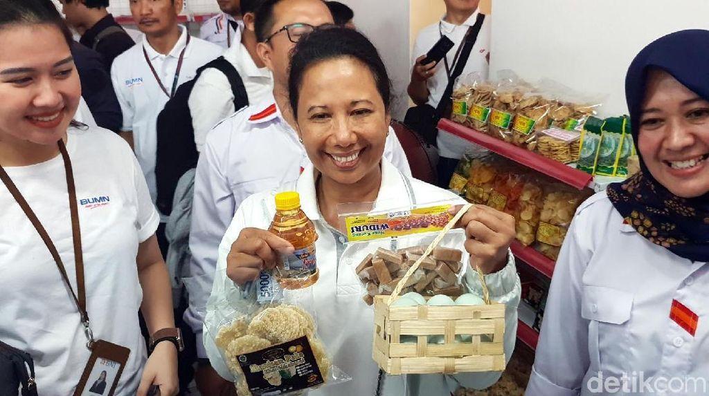 Genjot Perputaran Uang di Desa, Rini Resmikan BUMN Shop