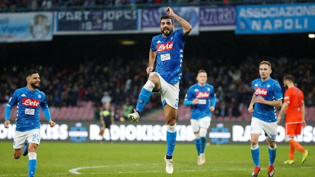 Napoli meraih kemenangan pada pekan ke-18 Liga Italia 2018/2019.