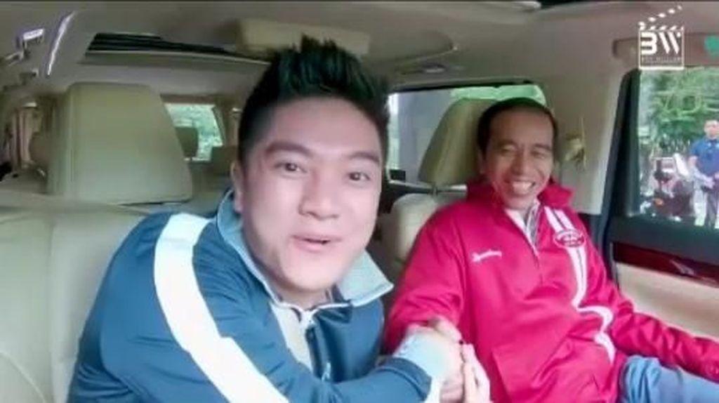 Ketemu Jokowi, Boy William Nyanyi Bareng sampai Minta Sepeda