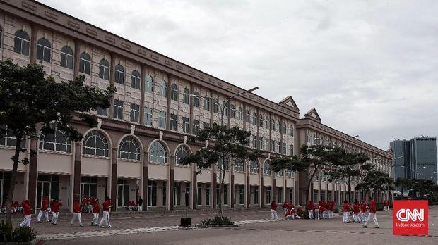 Deretan bangunan yang sudah selesai dibangun di Pulau D.