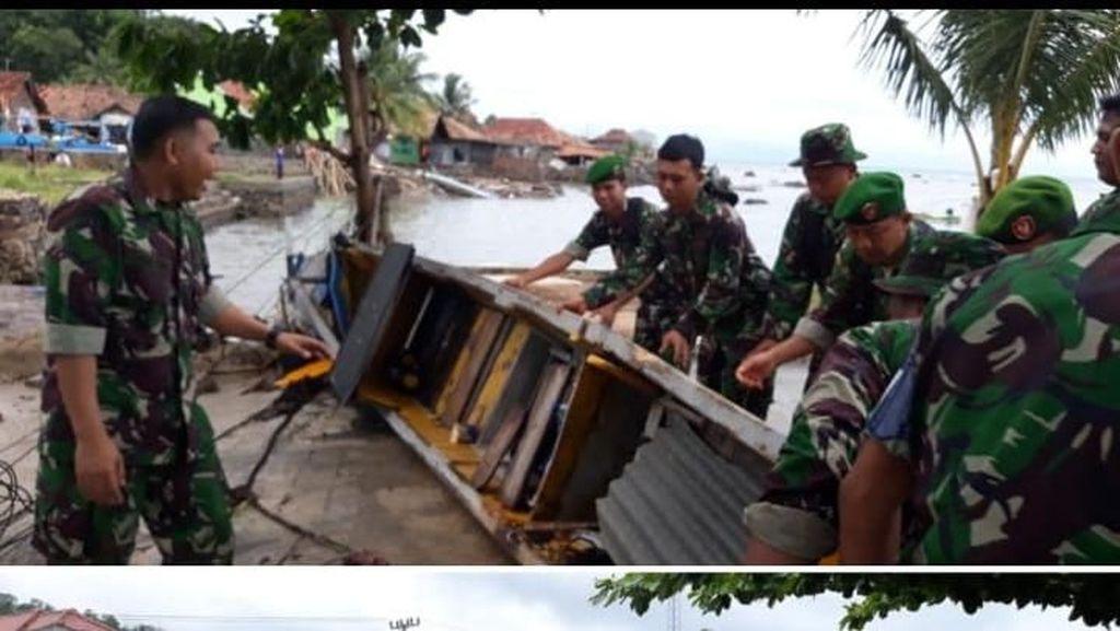 Foto: Tempat Wisata & Penginapan di Lampung Selatan Hancur Disapu Tsunami