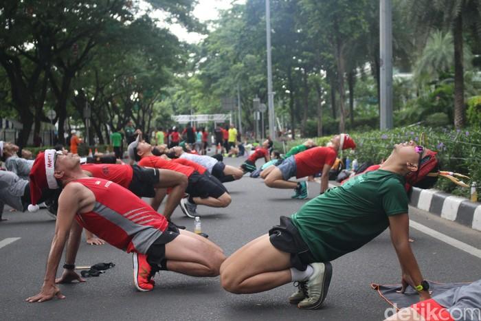 Tak hanya sehat, lari juga bisa dikemas jadi aktivitas yang menyenangkan. (Foto: Kireina/detikHealth)