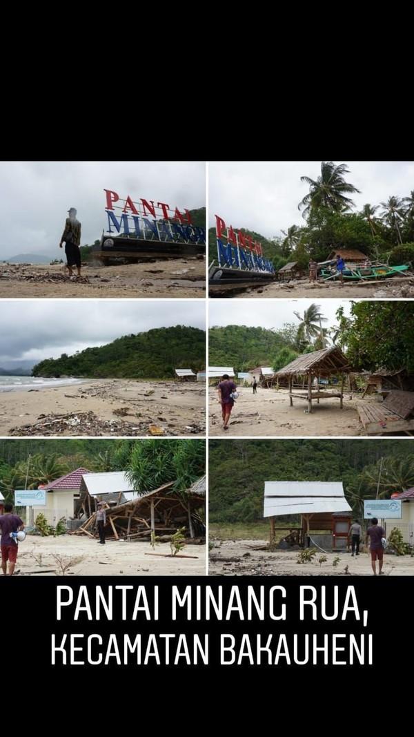 Pantai Minang Rua di Kecamatan Bakauheni yang juga tersapu tsunami (dok Kemenpar)