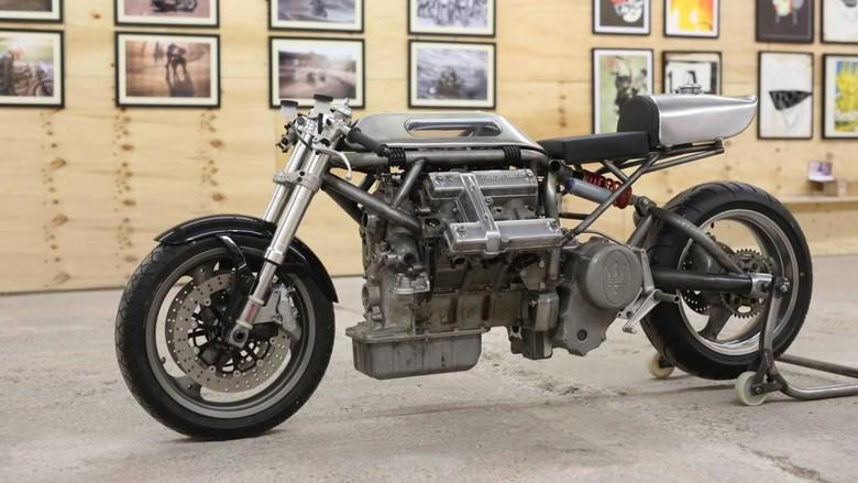 Mesin Maserati Dipakai Motor Modifikasi. Foto: Istimewa