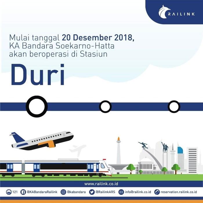 Jelang Nataru Ka Bandara Soetta Layani Penumpang Dari Stasiun Duri