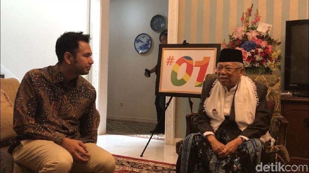 Raffi Ahmad dan Maruf Amin Saling Puji Satu Sama Lain