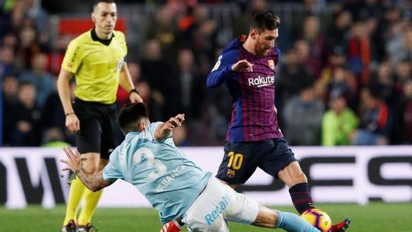 Messi dibayar 8,3 juta Euro atau sekitar Rp 131 M per bulan (Albert Gea/Reuters)