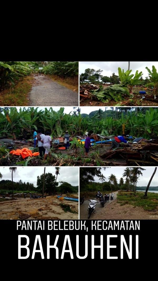 Kondisi Pantai Belebuk di Kecamatan Bakauheni (dok Kemenpar)