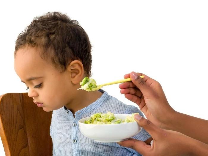 Ilustrasi anak nggak mau makan sayur. Foto: Dok. iStock