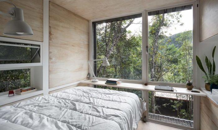 Rumah ini bernama Chalet L dan memiliki luas 67 kaki persegi. Foto: Inhabitat