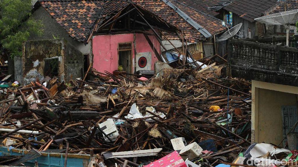 Data Kerusakan Akomodasi di Pandeglang Akibat Tsunami