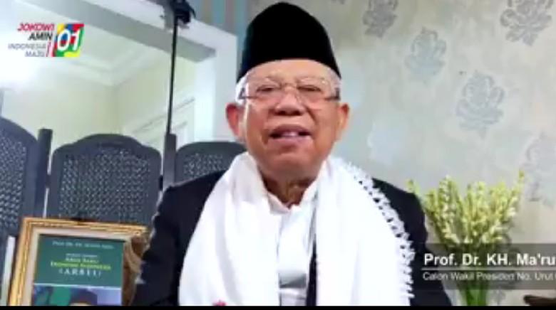 Timses Jokowi: Konten Maruf Amin di Sosmed Naik 25%