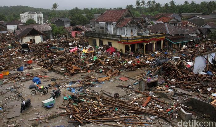 Kondisi di Sumur, Pandeglang pascatsunami Selat Sunda. Foto: Rifkianto Nugroho/detikcom