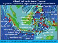 Data tsunami di Indonesia sejak 1629
