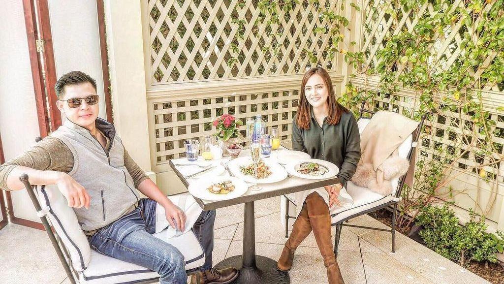 Rayakan Natal di Amerika, Shandy Aulia Bersantap di Resto Berbintang Michelin