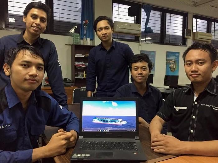 5 Mahasiswa di balik kesuksesan Nawasena sabet juara 2 (Foto: Humas ITS)