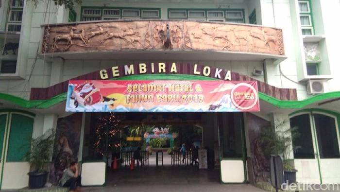 Gembira Loka (GL) Zoo di Yogyakarta saat libur Nataru, (26/12/2018)