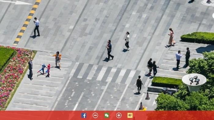 Aktivitas warga Shanghai begitu terlihat jelas. Foto: Bigpixel
