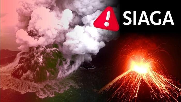 Ilustrasi fokus (bukan buat insert) Gunung Anak Krakatau Siaga (Andhika Akbaryansyah/detikcom)