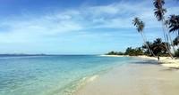 Inilah Pulau Baguk di Aceh Singkil. Pulau cantik tak berpenghuni ini ini punya kisah kelam karena menjadi lokasi kuburan massal bagi 97 orang korban tsunami Aceh 2004 silam. (dok. Istimewa)
