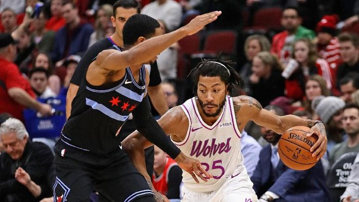 Wolves kalahkan Chicago Bulls (Jonathan Daniel/Getty Images)