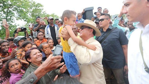 Capres Prabowo Subianto, di Atambua, Kabupaten Belu, Nusa Tenggara Timur (NTT), Kamis (27/12).