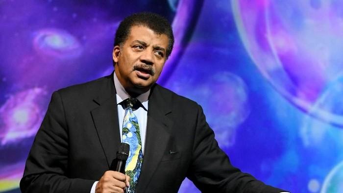 Astrofisikawan top AS Neil deGrasse Tyson membahas sebuah teori mengalahkan Thanos. (Foto: Craig Barritt/Getty Images)