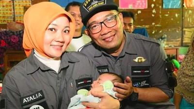 Cerita Ridwan Kamil & Istri Beri Nama Bayi di Pengungsian