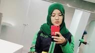 Foto: Gaya Hijab Driver Ojol Imut yang Mirip Nissa Sabyan