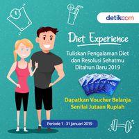 Bagikan diet experience kamu di tahun 2018 dan menangkan voucher senilai jutaan rupiah.