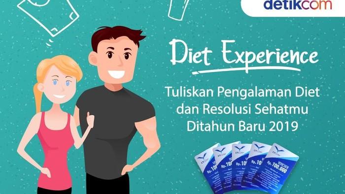 Perolehan sementara komentar terbanyak Diet Experience: Diet Tahun Baru. Foto: detikcom