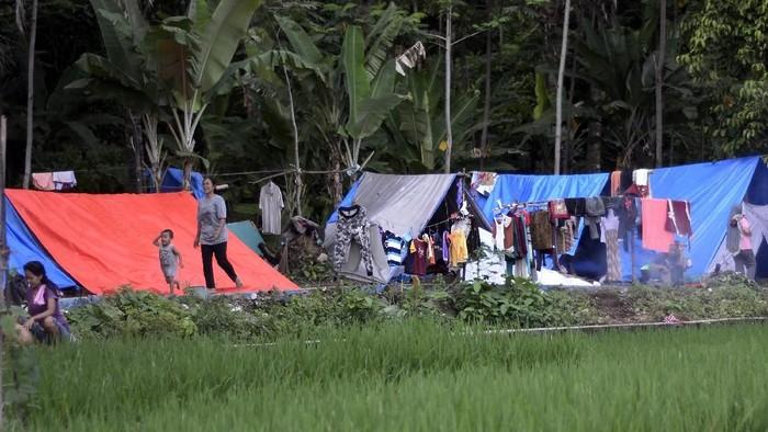 Posko pencarian korban tsunami Selat Sunda. Foto: Antara Foto