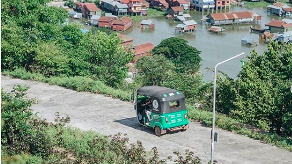 Jalan-jalan di Phnom Krom Kamboja Bisa Murah Pakai GrabTukTuk