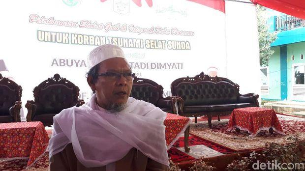 Ma'ruf Amin Hadiri Salat Gaib Korban Tsunami Selat Sunda di Pandeglang
