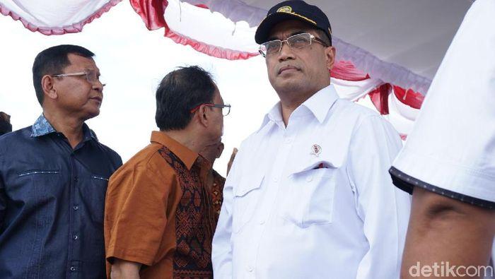 Foto: Menteri Perhubungan Budi Karya (Aditya Mardiastuti/detikcom)