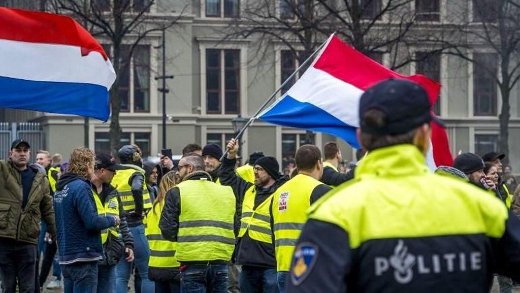 Demo Rompi Kuning di Belanda Ricuh, 8 Orang Ditangkap