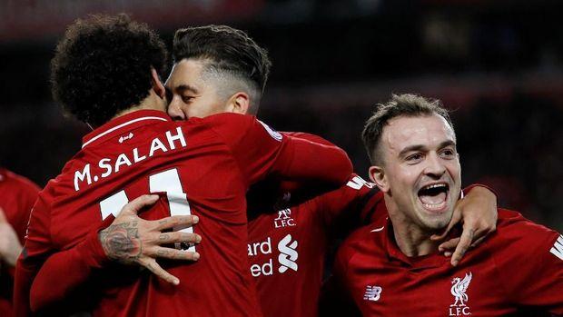 Liverpool tampil konsisten hingga paruh musim Liga Primer Inggris.