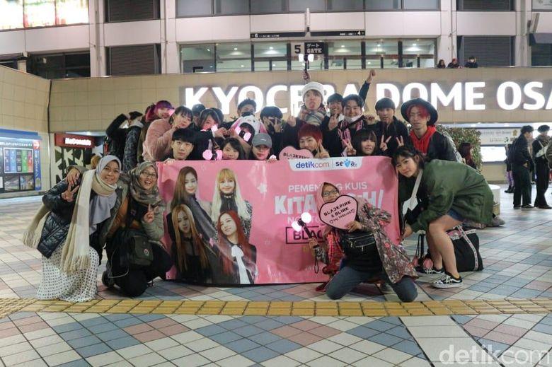 Para pemenang nonton konser BLACKPINK di Osaka, Jepang. Dok. detikHOT