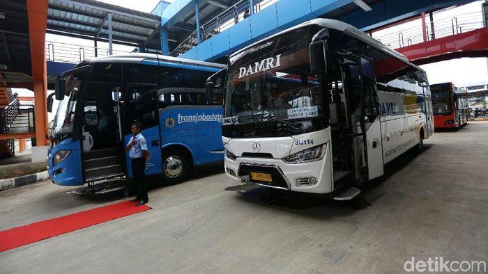 Bus Damri/Foto: Agung Pambudhy