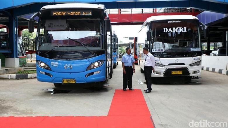 Terminal Pondok Cabe yang sudah direvitalisasi Foto: Agung Pambudhy